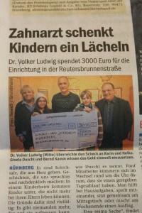 Spende für ein Herz für Kinder