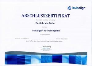 Urkunde Frau Daher_Invisalign
