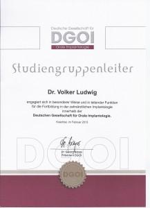 Urkunde DGOI Dr. Ludwig