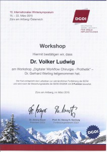 Zertifikat DGOI ZÜRS_Workshop 1_Dr. Volker Ludwig