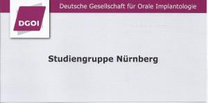 2. Sitzung der DGOI Studiengruppe Nürnberg mit Referent Dr. Dr. Nils Weyer