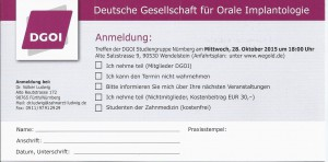2. Sitzung der DGOI Studiengruppe Nürnberg mit Referent Dr. Dr. Nils Weyer_Anmeldung