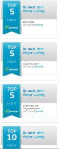 Quelle: Zahnarztpraxis Dr. Ludwig und Kollegen   Jameda Siegel Top 5 Zahnärzte