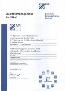 Qualitätsmanagement Zertifikat 2008