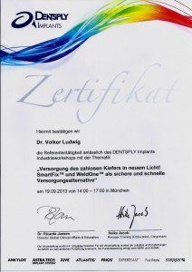 Zertifikat_Dentsply_Dr. Ludwig