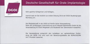 Quelle: Zahnarztpraxis Dr. Ludwig & Kollegen / Veranstaltungen | 1. Sitzung 2016