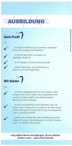 Quelle: Zahnarztpraxis Dr. Ludwig und Kollegen/AZUBI Flyer-2