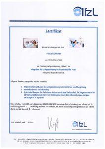 Quelle: Zahnarztpraxis Dr. Ludwig und Kollegen/Zertifikat Jana Christner