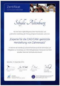 Quelle: Zahnarztpraxis Dr. Ludwig und Kollegen | Zertifikat_CAD/CAM_Sibylle Altenburg