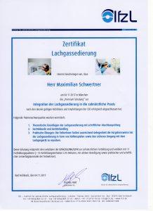 Lachgas | Zahnarzt Fürth – Quelle: Zahnarztpraxis Dr. Ludwig und Kollegen/Zertifikat Herr Schwertner