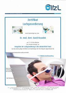 Quelle: Zahnarztpraxis Dr. Ludwig und Kollegen/Zertifikat Dr. Kruzolek