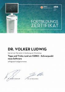 Quelle: Zahnarztpraxis Dr. Ludwig und Kollegen/Zertifikat