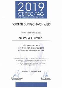 Quelle: Zahnarztpraxis Dr. Ludwig und Kollegen/Urkunde Dr. Ludwig