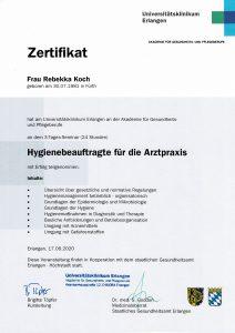 Quelle: Zahnarztpraxis Dr. Ludwig und Kollegen_Zertifikat Rebekka Koch